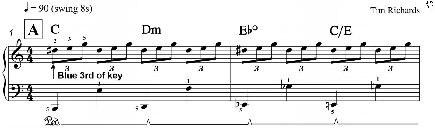 Tim Richards' Jazz Piano Notebook on LearnJazzPiano com