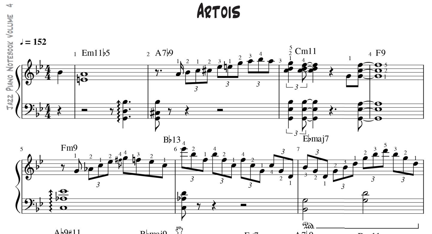 Jeff Brent's Jazz Piano Notebook on LearnJazzPiano com