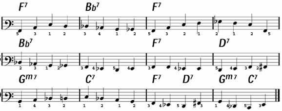 Left Hand Walking Bass on LearnJazzPiano com