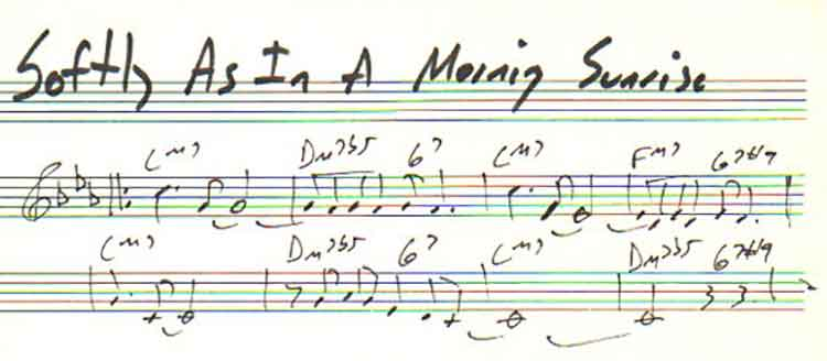 A Look At Softly As In A Morning Sunrise On Learnjazzpiano