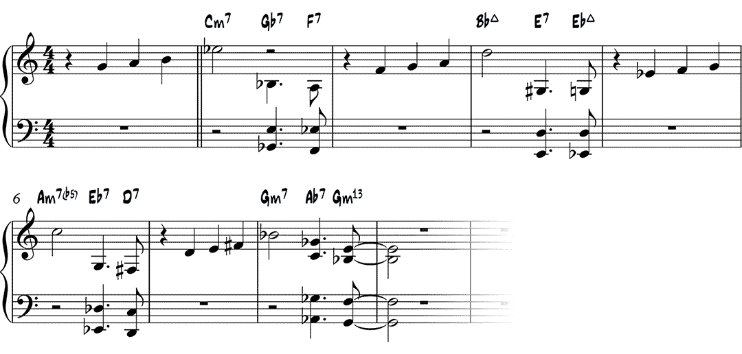 Autumn Leaves example reharmonization - learnjazzpiano.com